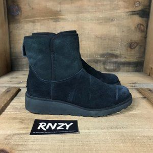 Ugg Kristin Black Wedge Shearling Lined Boots